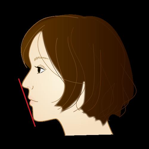 正常な状態の横顔