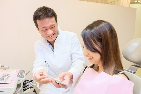 仮歯の調整